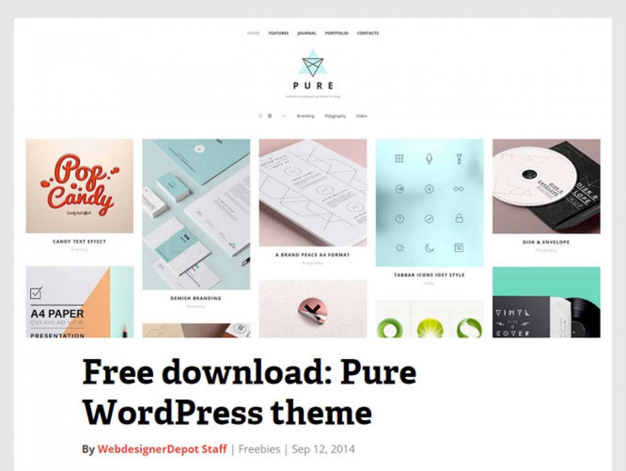 Plantillas tipo portfolio para Wordpress gratis. | Websdecorral